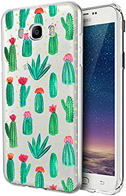 Eouine Funda Samsung Galaxy J5 2016, Cárcasa Silicona 3D Transparente con Dibujos Diseño Suave Gel TPU [Antigolpes] de Protector Case Fundas para Movil Samsung J52016-5,2 Pulgadas (Cactus): Amazon.es: Electrónica