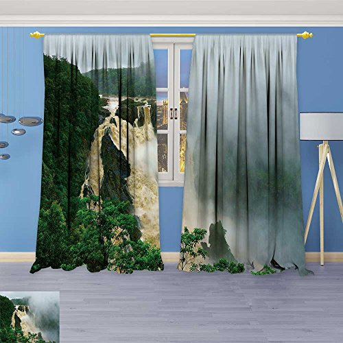 Lijiaohome Whale Decor Collection,barron falls barron gorge national park cairns queensland australia,Window Treatments for Bedroom Curtain 2 Panels Set,108