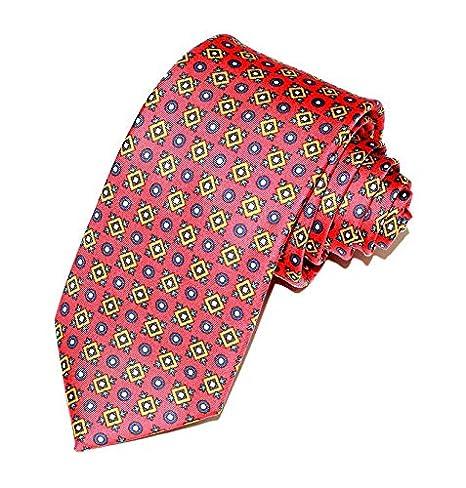 Corbata de Seda Twill Rodas Roja: Amazon.es: Hogar