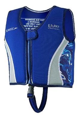 Speedo Kids Uv Neoprene Swim Vest Blue Medium by Speedo