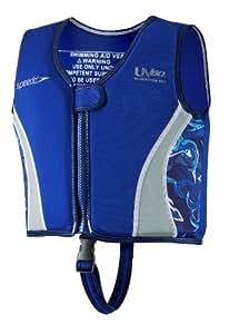 Speedo Kids' UPF 50+ Begin to Swim Neoprene Swim Vest, Blue, Large