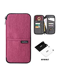 Travel Wallet,Passport Holder with Hand Strap and Zipper-Amazing Travel Wallet that Can Hold all Your Documents, Cards, Visas and More - Sleek Lightweight Design for Easy Organizing Case (Blossom Red)