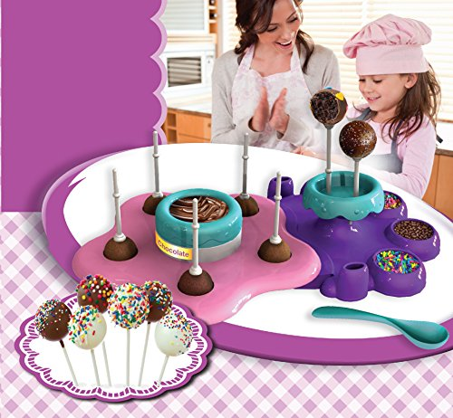 AMAV Toys Cake Pops Maker A Baking Activity Set for Microwave Baking - DIY Make Your Own Delicious Treat Pops - Now Every Child Can Bake Tasty Delicious Cake Pops Within 30 S]()