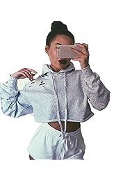 Susenstone Women Hoodie Sweatshirt Jumper Sweater Coat Sports Pullover Tops