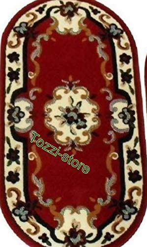 Scendiletto Ovale Tappeto Camera Da Letto Bordeaux Mis 60x100 Amazon It Casa E Cucina