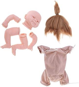 "18/"" Reborn Supplies Cloth Body for 3//4 Arm Full Legs Baby Doll DIY Accessory"