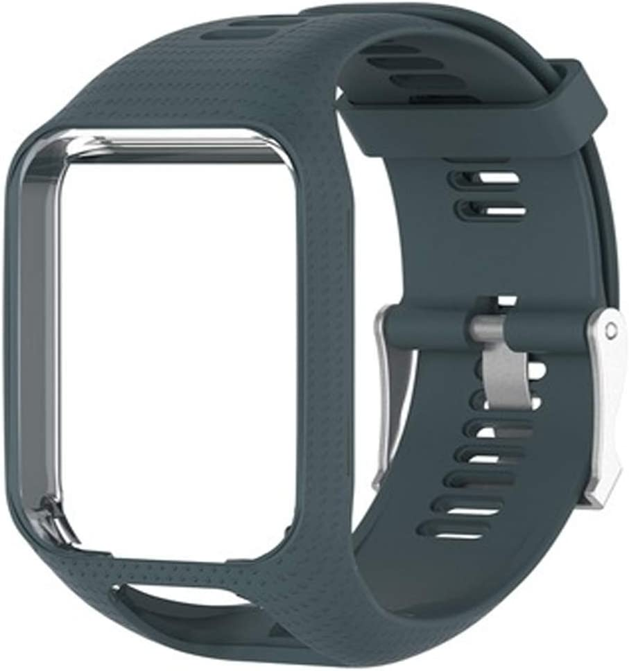 Voghtic Correa de reloj de repuesto para TomTom, pulsera deportiva de silicona suave compatible con Runner 2/Runner 3/Spark 3/Golfer 2/Adventurer