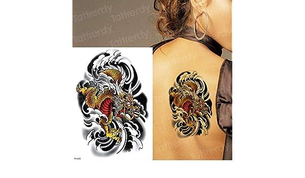 tzxdbh 3 Unids-A Largo Plazo Tatuaje Animal Cabeza de león Tatuaje ...