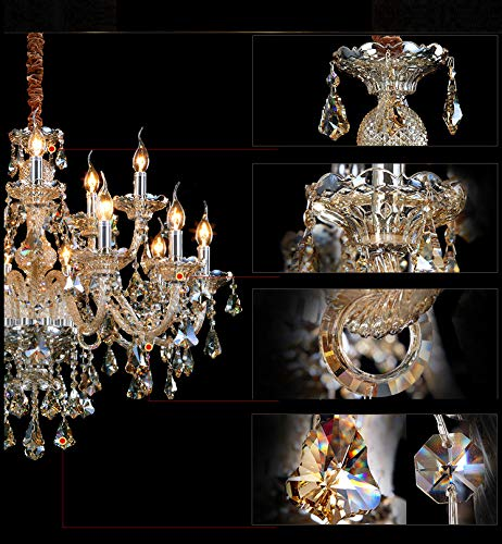 Generic Island Lights Crystals Chandelier 15 Lights Ceiling Fixtures Color Cognac by Unknown (Image #2)
