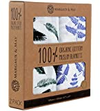 Margaux & May Muslin Swaddle Blankets - 47-by-47-Inch - Blue
