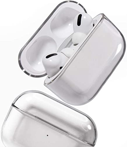Kukakoo Earbuds Earphones Headphones, Noise Isolating Sport Earphones Transparent PC Shockproof Bluetooth Headset Earphone Case Cover for Airpod-s Pro for iPhone iPod iPad Android MP3 MP4 Transparent