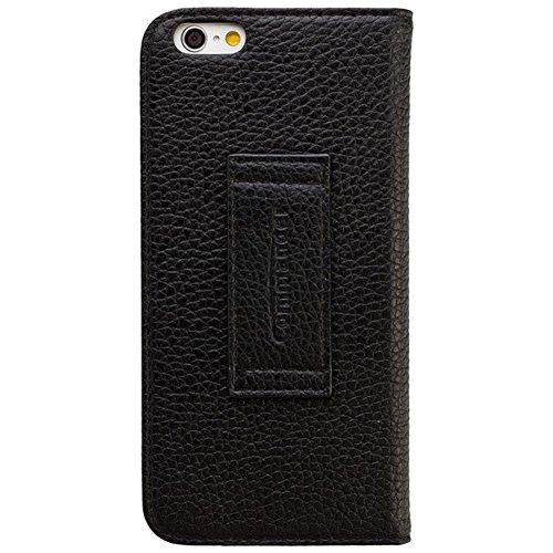 COMMANDER Premium Tasche DOUBLE WINDOW Leather Black für Apple iPhone 6 Plus Lizenzprodukt + Reinigungstuch PDA-Punkt