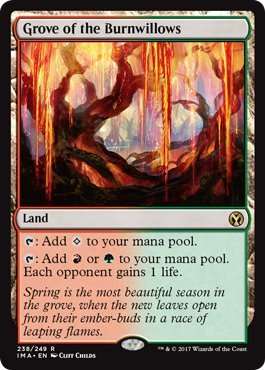 Grove of the Burnwillows - Foil - Iconic Masters