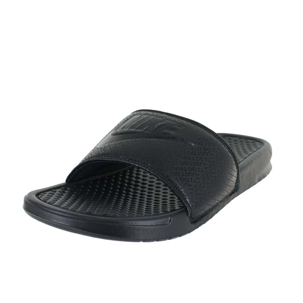 online store fd769 a46d7 Galleon - Nike Mens Benassi JDI Black Black Black Size 9