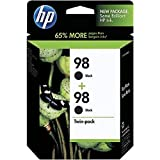 HP 98 (C9514FN) Black Original Ink Cartridges, 2 pack