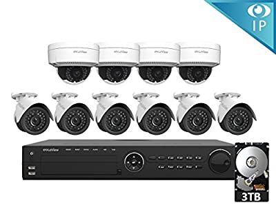 LaView 1080P IP 2MP High Resolution, Day and Night, Indoor/Outdoor, White Bullet 4MP Security Combatable System Camera, LV-PB932F4 by LaView