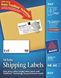 Avery Shipping Labels with TrueBlock Technology, 2 x 4, White, 250/Pack, PK – AVE8163, Office Central