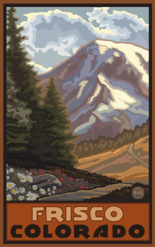 Northwest Art Mall Frisco Colorado Springtime in The Mountains Wall Art by Paul A. Lanquist, 11-Inch by ()