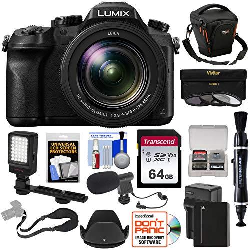 Panasonic Lumix DMC-FZ2500 4K Wi-Fi Digital Camera with 64GB Card + Battery...