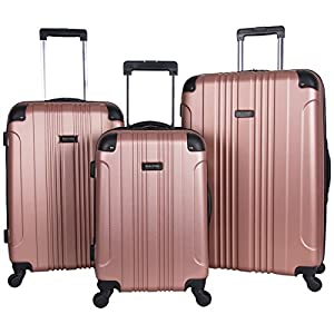 Kenneth Cole Reaction Out Of Bounds 3-Piece Lightweight Hardside 4-Wheel Spinner Luggage Set: 20″ Carry-On, 24″, & 28″