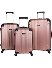"Out Of Bounds 3-Piece Lightweight Hardside 4-Wheel Spinner Luggage Set: 20"" Carry-On, 24"", & 28"""