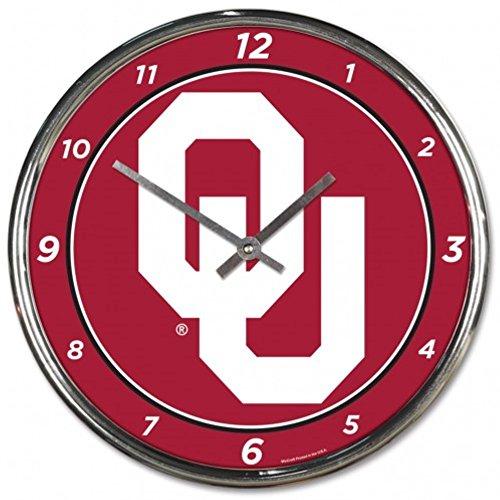 - NCAA Oklahoma Sooners WinCraft Official Chrome Clock
