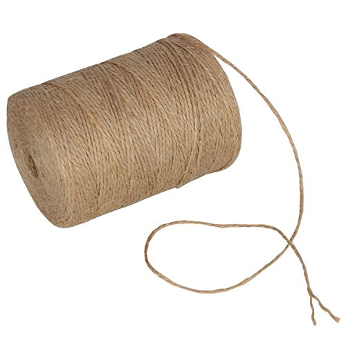984 Feet Natural Jute Twine Hemp String Christmas Twine String Packing Materials Durable Twine for Gardening (Burlap String)