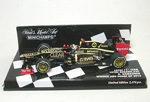 Minichamps 1:43 Scale 2012 Abu Dhabi Winner Kimi Raikkonen Lotus F1 Team Renault E20