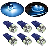 99 s10 blue hid - Partsam T10 194 168 LED Light Bulb W5W License Plate LED Lights Bulbs -6pcs Ice Blue