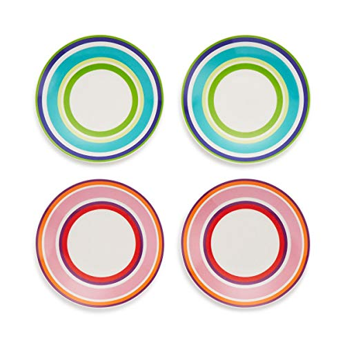 kate spade new york Wickford Cafe Stripe Tidbit Plates ~ Set of 4 (Kate Spade Place Cards)