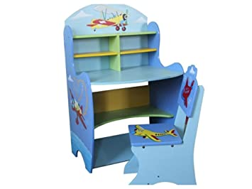 Childrens Study Desk Table And Chair Set Boys Kids Drawing Reading