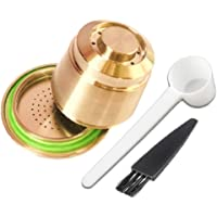 Altın renkli marka yeniden kullanılabilir paslanmaz çelik Pod için uygun Nespresso-Brauer Espresso Schoepfern. yerine…