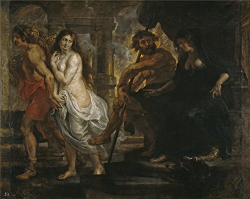 Valli Workshop - Perfect Effect Canvas ,the Cheap But High Quality Art Decorative Art Decorative Prints On Canvas Of Oil Painting 'Rubens Peter Paul (and Workshop) Orfeo Y Euridice 1636 37 ', 8 X 10 Inch / 20 X 26 Cm Is Best For Hallway Decoration And Home Decoration And Gifts