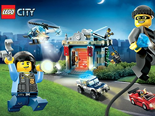 Lego City Police Chase Kids Art Print Poster