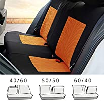 uxcell Universal Front Back Seat Cover Cushion Mat Protector for Car SUV Truck Black Brown Polyester Mesh 9pcs