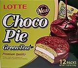 choco pie green tea - Lotte Choco Pie Green Tea, 12 individually packed pieces, 11.85 oz (Green Tea)