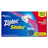 Ziploc Slider Storage Bag Quart, 76 Count (Pack of 9)