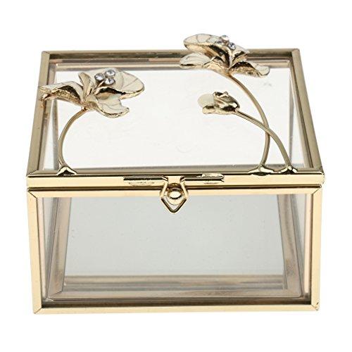 Blumenohrring Display Box Halter Schmuckschatullen Speicher Glasschmuck Ring