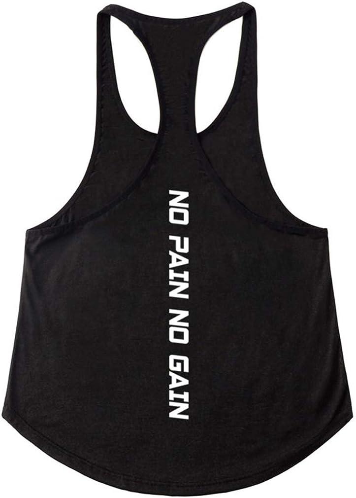 Uomo Bodybuilding Canotta Palestra Stringer Veste Tank Top per Allenamento Muscoli