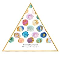 FECTY-Mural de Pared Sala de Estar Pintura Decorativa Minimalista Moderna Creatividad Combinación Triángulo Pintura Color Mural Mundial Decoración hogareña