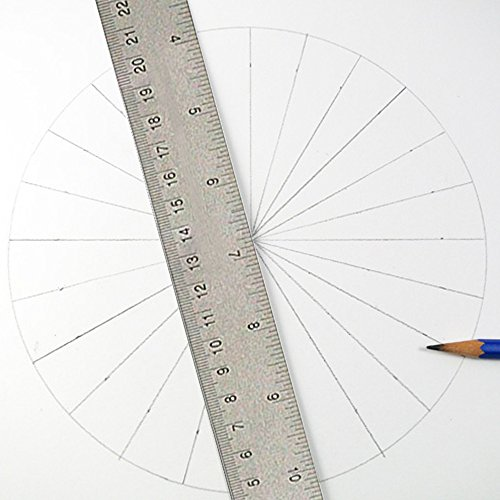 24 inch Stainless Steel Metal Ruler 2 Pack- 24 inch High Grade Flexible Stainless Steel Ruler with Non Slip Cork Base for Excellent Precision and Accuracy (2 Pack) by Breman Precision (Image #8)'