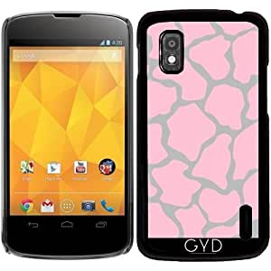 Funda para Google Nexus 4 - El Estampado De Animales Rosado 06 by Aloke Design