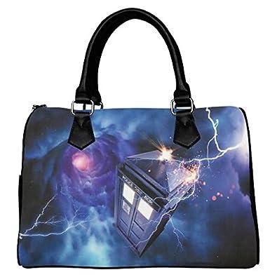 Leather Canvas Handbag