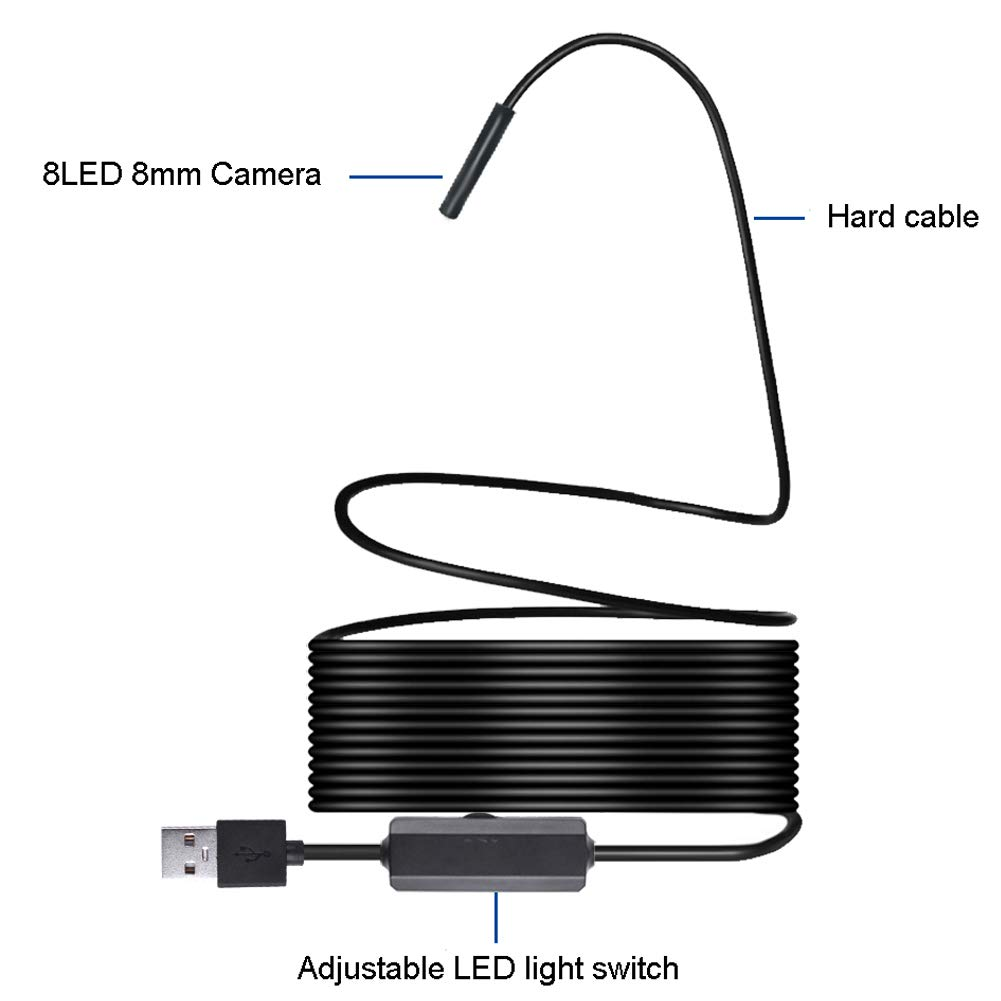 RoJuicy Wireless Endoscope Inspection Camera Waterproof Camera for Android/iPhone/Windows