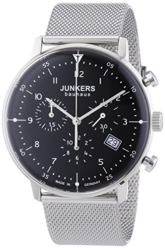 Junkers Bauhaus Swiss Quartz Chronograph with Domed Hesalite Crystal 6086M-2