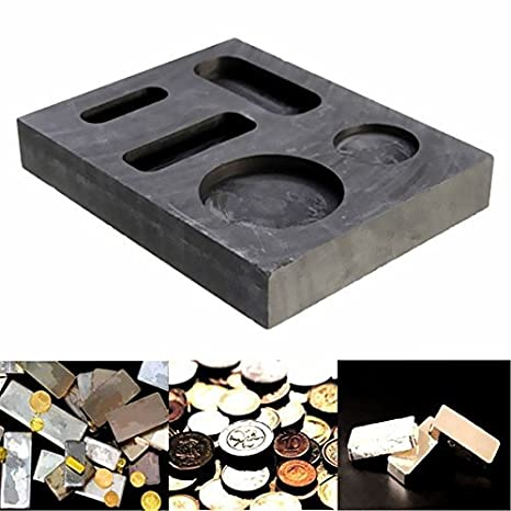 Saver 10 oz de grafito lingotera crisol barra de combo para el oro de plata de fusión de fundición: Amazon.es: Electrónica