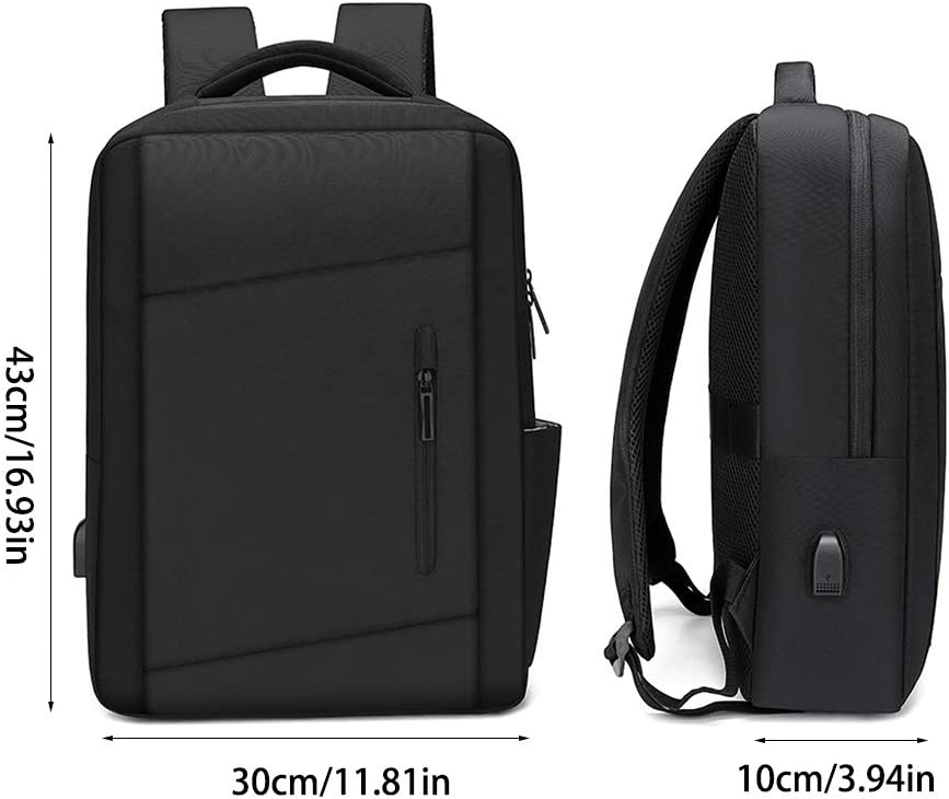 Jesse Computer Notebook Knapsack with Waterproof USB Charging Internal Shockproof for IT Man with a Computer on His Back