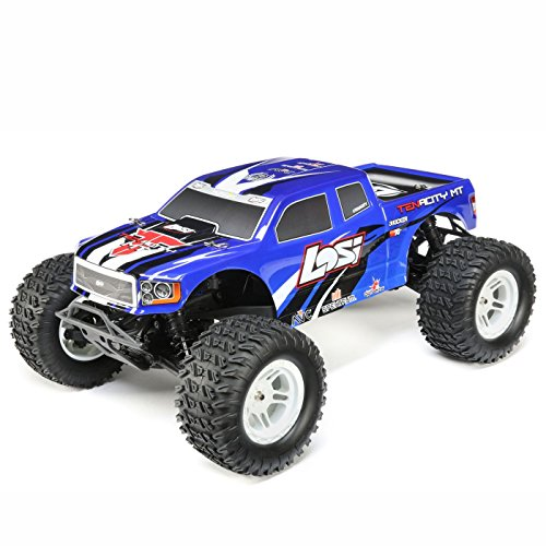 Team Rtr Losi (Los LOS03012T2 1/10 Tenacity 4WD RC Monster Truck Brushless RTR with AVC, Blue)