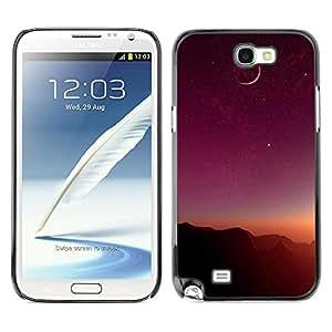 El Suave Bronce Luna - Metal de aluminio y de plástico duro Caja del teléfono - Negro - Samsung Note 2 N7100