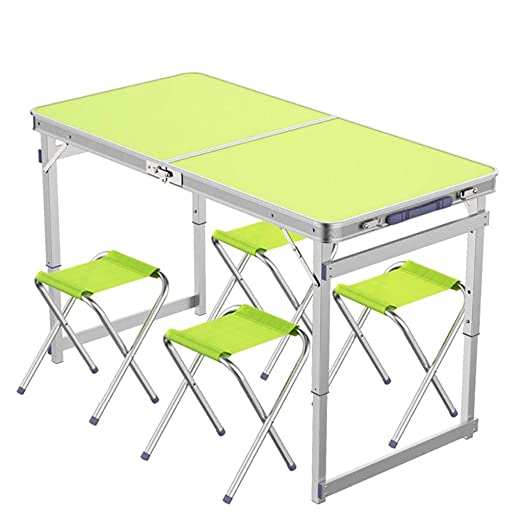 Mesa Plegable portátil, Metal Pliegue sillas, Escritorio Plegable ...